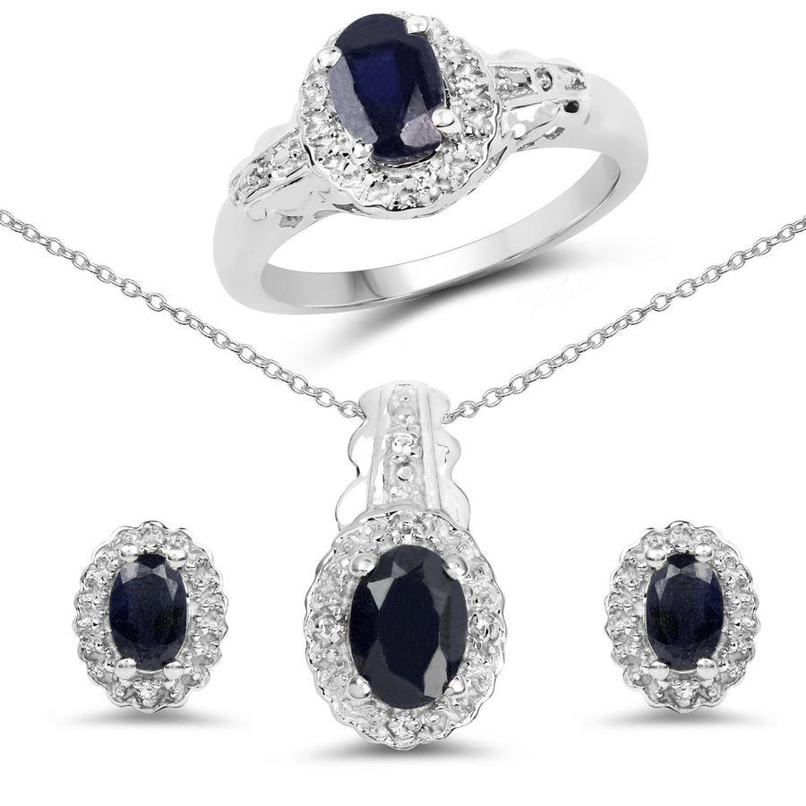 Srebrna biżuteria komplet