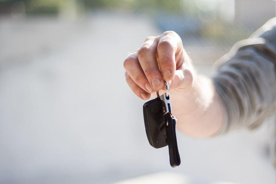 Wynajem samochodu kluczyki